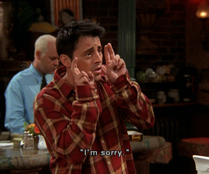 friends, sorry, and Joey image