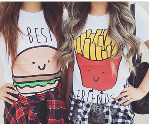 bff, burger, and fries image