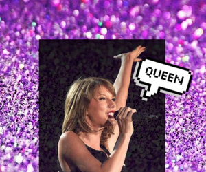 glitter, purple, and Queen image