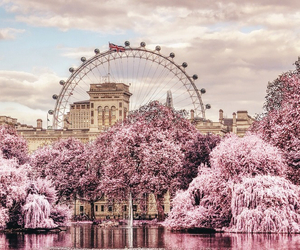 london, pink, and travel image