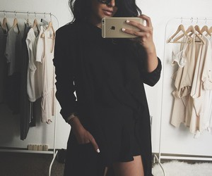 beauty, black on black, and fashion image