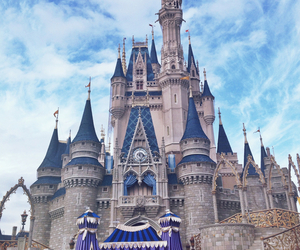 disney, castle, and disney castle image