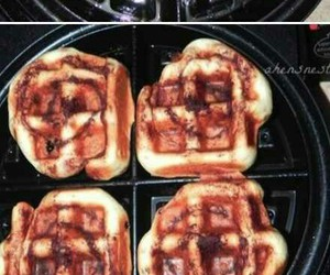 breakfast, cinnamon rolls, and delicious image