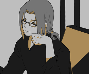anime, black, and itachi uchiha image