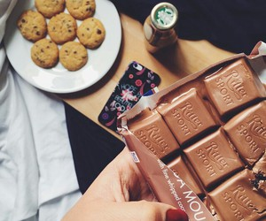 chocolate, cookie, and fashion image
