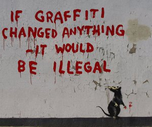 graffiti, BANKSY, and art image
