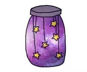 stars, purple, and galaxy image