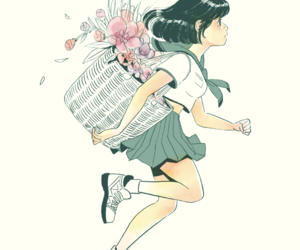 flowers, illustration, and anime image