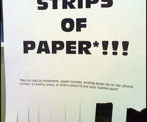 Paper, free, and funny image