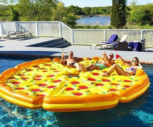 pizza, summer, and pool image