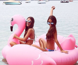 summer, best friends, and pink image