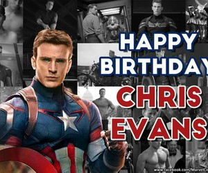 captain america, chris evans, and 34 years old image