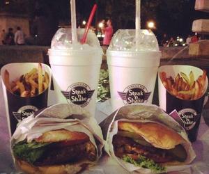 food, milkshakes, and steak n shake image