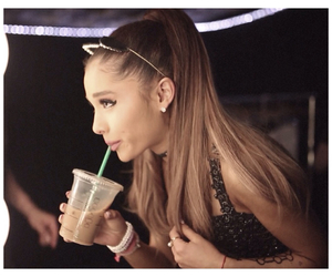 ariana grande, ariana, and starbucks image