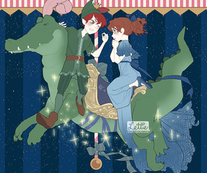 carousel, peter pan, and lettiebobettie image