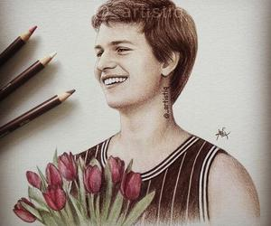 ansel elgort, drawing, and artistiq image