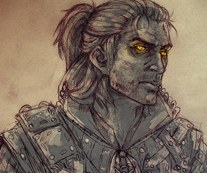 the witcher, geralt, and white+wolf image