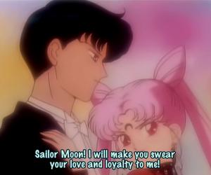 sailor moon, tuxedo mask, and chibiusa image