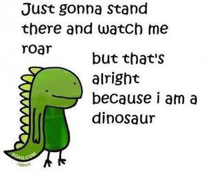 dinosaur, funny, and roar image