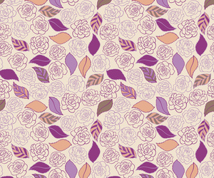 pattern, flowers, and leaves image