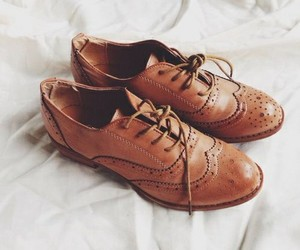 brown, shoes, and oxfords image