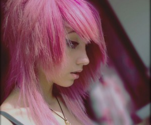girl, scene, and pink image