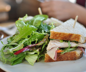 food, sandwich, and salad image