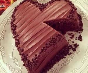 cake, chocolate, and heart image