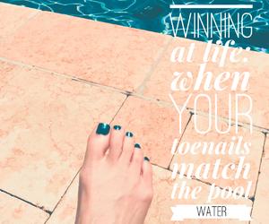 nail polish, pool, and quote image