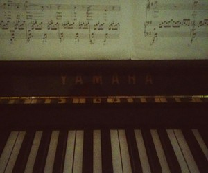 music, piano, and picture image