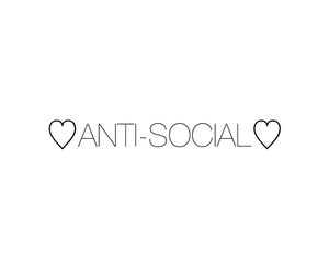 anti-social, black and white, and cool image