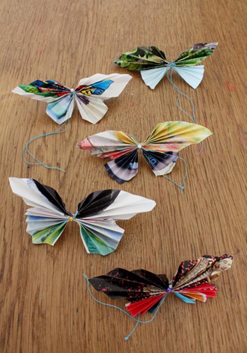 Basteln Mit Papier Schmetterlinge Falten Bastelnco