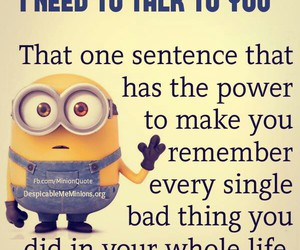 funny, minions, and scary image