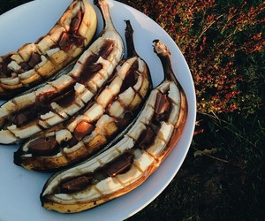 bananas, chocolate, and delicious image