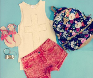 pink, clothes, and flowers image