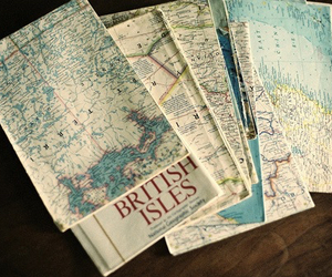 map, british, and vintage image