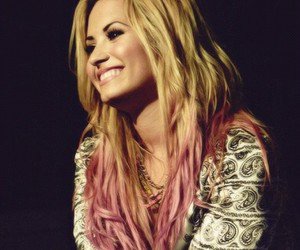 blonde, colorful hair, and pink image