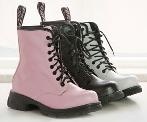 shoes, black, and pink image