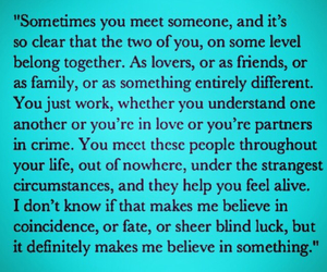 lovers, sometimes, and meet someone image