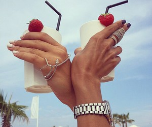 drink, girl, and summer image