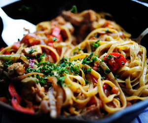 food, noodles, and sphagetti image