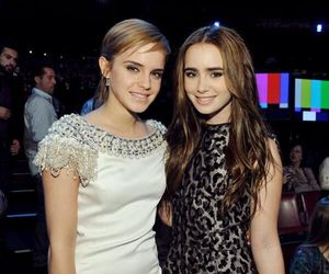 emma watson, lily collins, and lily image
