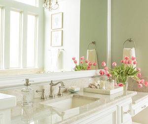 bathroom, green, and home image