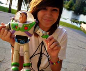 girl and buzz lightyear image