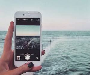 iphone, nature, and phone image