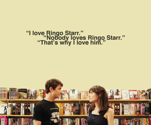 500 Days of Summer, ringo starr, and zooey deschanel image