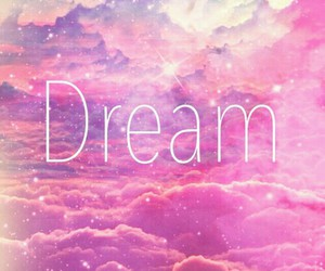 Dream, pink, and clouds image