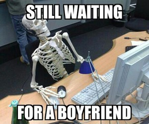 boyfriend, funny, and skeleton image