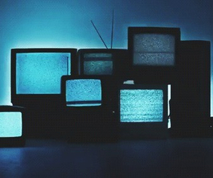 grunge, tv, and blue image