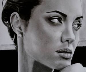 actress, Angelina Jolie, and illustration image
